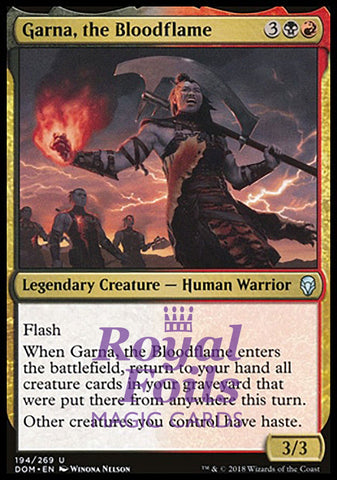 **1x FOIL Garna, the Bloodflame** DOM MTG Dominaria Uncommon MINT black red