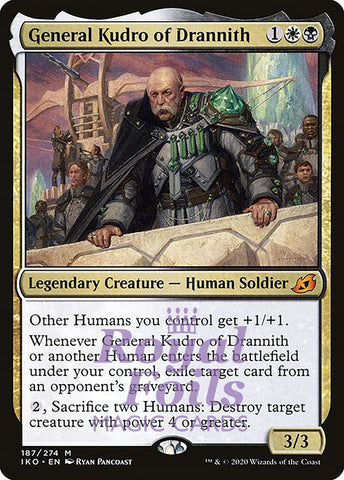 **1x FOIL General Kudro of Drannith** IKO MTG Ikoria Mythic MINT white black