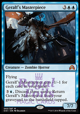 **1x FOIL Geralf's Masterpiece** SOI MTG Shadows Over Innistrad Mythic MINT blue