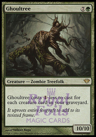 **1x FOIL Ghoultree** DKA MTG Dark Ascension Rare MINT green