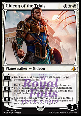 **1x FOIL Gideon of the Trials** AKH MTG Amonkhet Mythic MINT white
