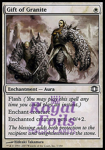 **4x FOIL Gift of Granite** FUT MTG Future Sight Common NM+ white
