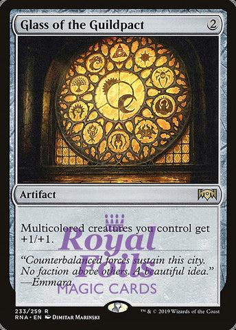 **2x FOIL Glass of the Guildpact** RNA MTG Ravnica Allegiance Rare MINT artifact