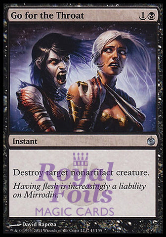 **1x FOIL Go for the Throat** MBS MTG Mirrodin Besieged Uncommon MINT black