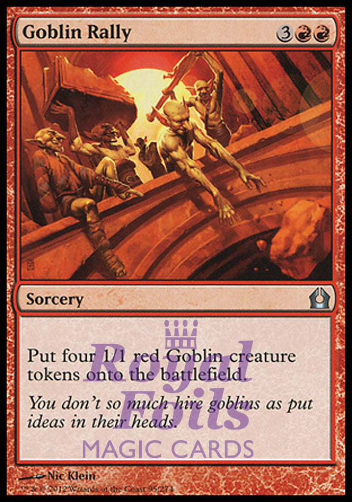 **2x FOIL Goblin Rally** RTR MTG Return to Ravnica Uncommon MINT red