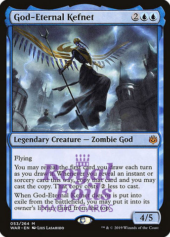**1x FOIL God-Eternal Kefnet** WAR MTG War of the Spark Mythic MINT blue
