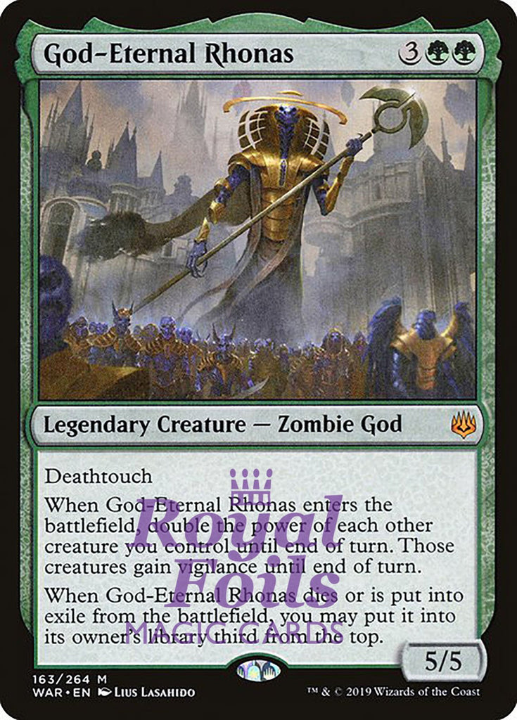 **1x FOIL God-Eternal Rhonas** WAR MTG War of the Spark Mythic MINT green