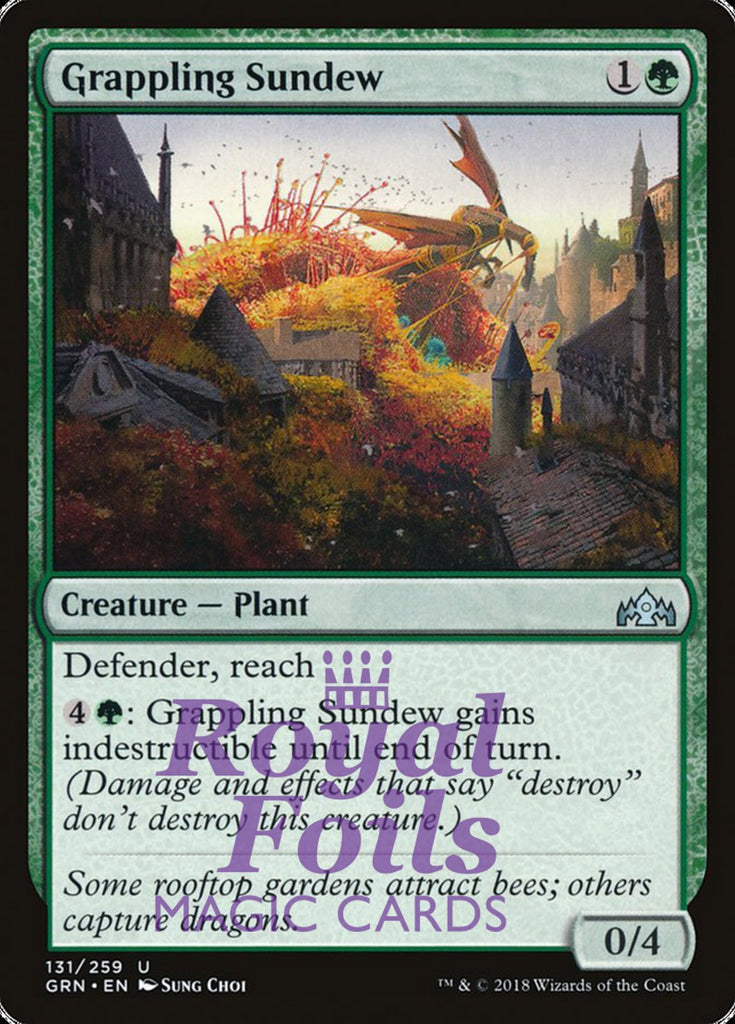 **2x FOIL Grappling Sundew** GRN MTG Guilds of Ravnica Uncommon MINT green