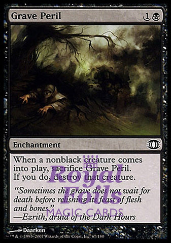 **4x FOIL Grave Peril** FUT MTG Future Sight Common NM+ black
