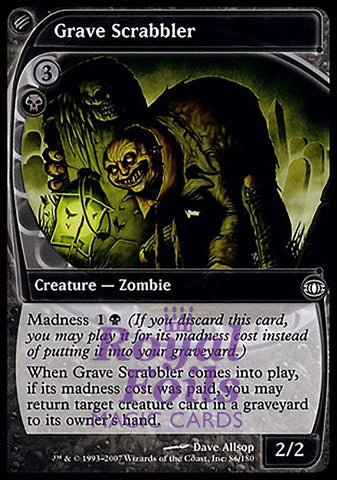 **1x FOIL Grave Scrabbler** FUT MTG Future Sight Common NM+ black