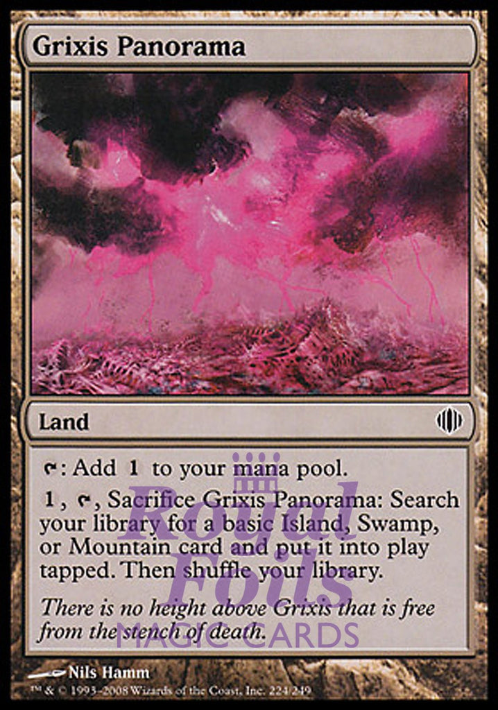 **1x FOIL Grixis Panorama** ALA MTG Shards of Alara Common MINT blue black red land