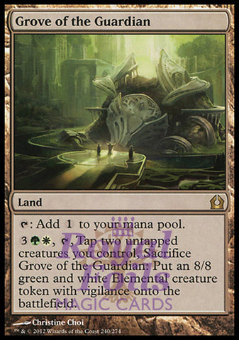 **2x FOIL Grove of the Guardian** RTR MTG Return to Ravnica Rare MINT green white land
