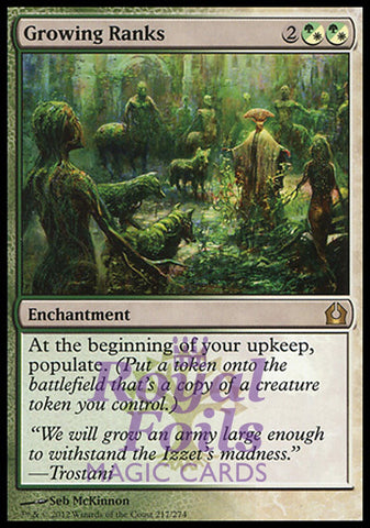**1x FOIL Growing Ranks** RTR MTG Return to Ravnica Rare MINT green white