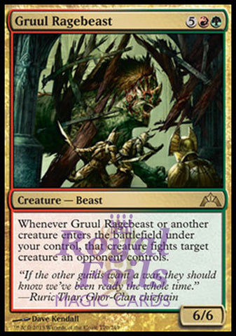 **1x FOIL Gruul Ragebeast** GTC MTG Gatecrash Rare MINT red green