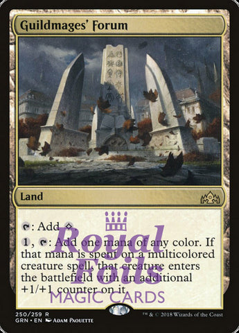 **1x FOIL Guildmages' Forum** GRN MTG Guilds of Ravnica Rare MINT land