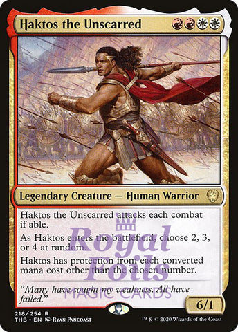 **1x FOIL Haktos the Unscarred** THB MTG Theros Beyond Death Rare MINT red white