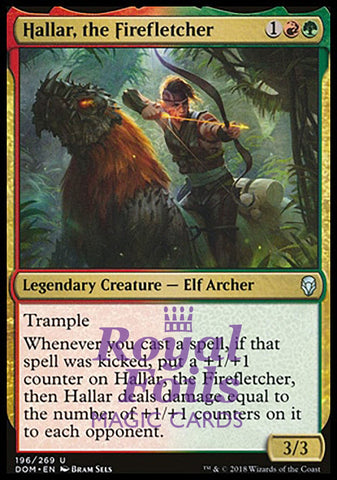 **2x FOIL Hallar, the Firefletcher** DOM MTG Dominaria Uncommon MINT red green