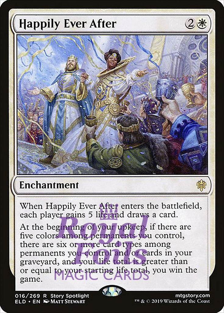 **2x FOIL Happily Ever After** ELD MTG Throne of Eldraine Rare MINT white