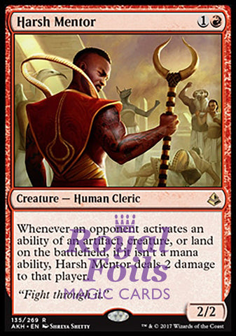 **1x FOIL Harsh Mentor** AKH MTG Amonkhet Rare MINT red