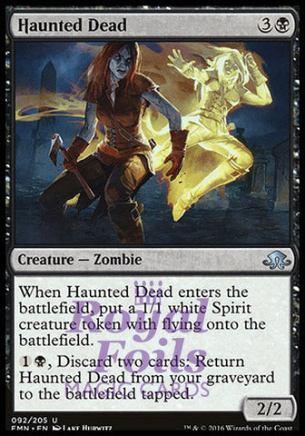 **1x FOIL Haunted Dead** EMN MTG Eldritch Moon Uncommon MINT black