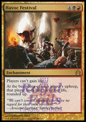 **1x FOIL Havoc Festival** RTR MTG Return to Ravnica Rare MINT black red