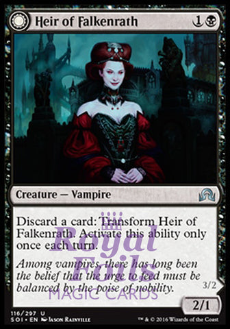 **1x FOIL Heir of Falkenrath // Heir to the Night** SOI MTG Shadows Over Innistrad Uncommon MINT black