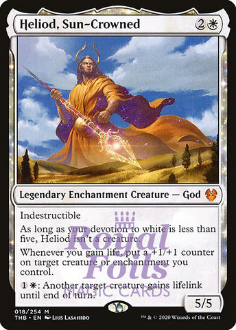 **1x FOIL Heliod, Sun-Crowned** THB MTG Theros Beyond Death Mythic MINT white