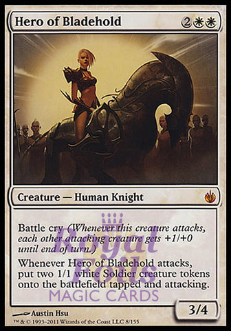 **1x FOIL Hero of Bladehold** MBS MTG Mirrodin Besieged Mythic MINT white