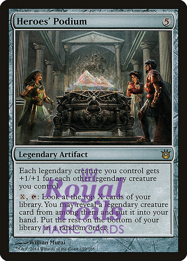 **1x FOIL Heroes' Podium** BNG MTG Born of the Gods Rare MINT artifact