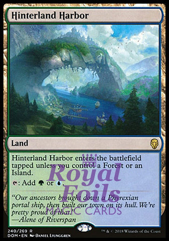 **1x FOIL Hinterland Harbor** DOM MTG Dominaria Rare MINT green blue land