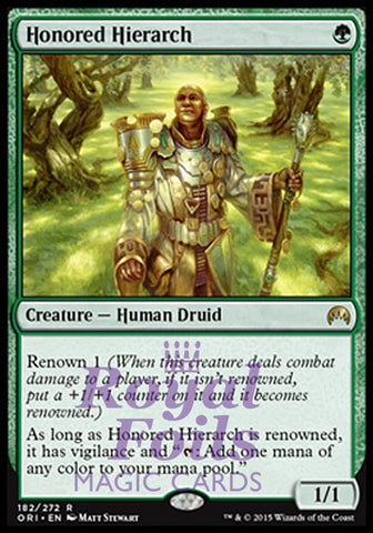 **1x FOIL Honored Hierarch** ORI MTG Magic Origins Rare MINT green