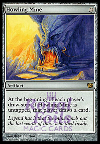 **1x FOIL Howling Mine** MTG 9th Ninth Edition Rare MINT artifact