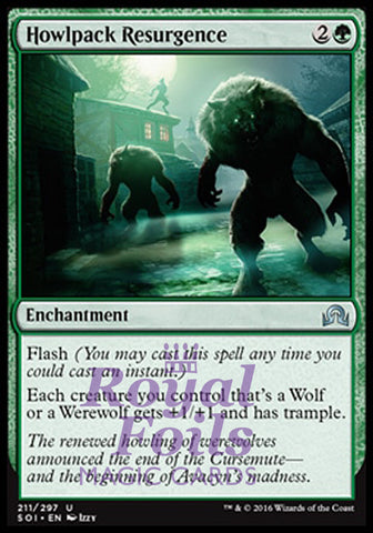 **1x FOIL Howlpack Resurgence** SOI MTG Shadows Over Innistrad Uncommon MINT green