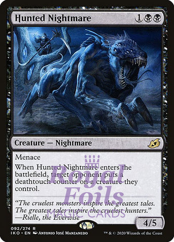 **2x FOIL Hunted Nightmare** IKO MTG Ikoria Rare MINT black