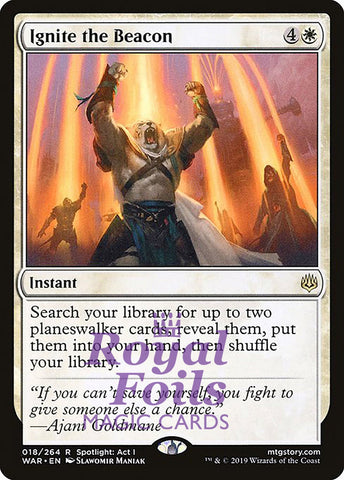 **1x FOIL Ignite the Beacon** WAR MTG War of the Spark Rare MINT white