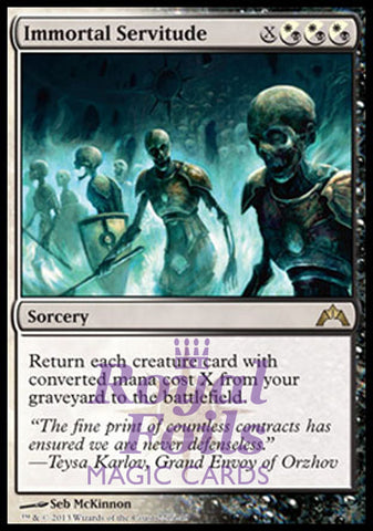**1x FOIL Immortal Servitude** GTC MTG Gatecrash Rare MINT white black