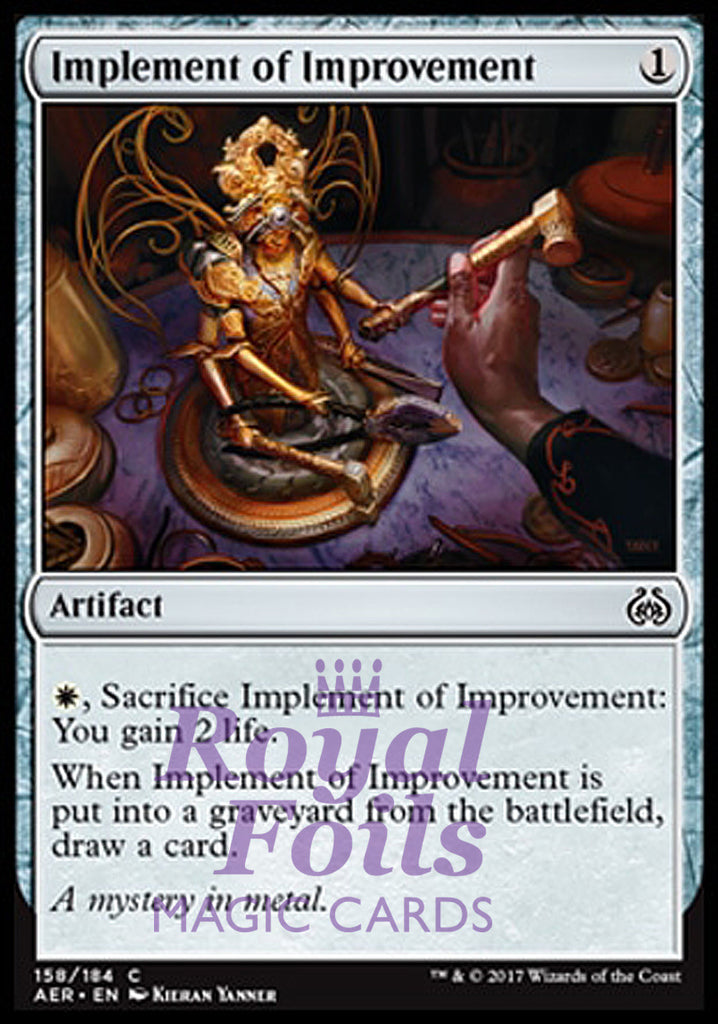 **4x FOIL Implement of Improvement** AER MTG Aether Revolt Common MINT artifact