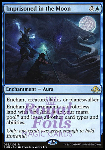 **1x FOIL Imprisoned in the Moon** EMN MTG Eldritch Moon Rare MINT blue