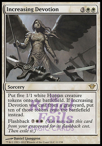 **1x FOIL Increasing Devotion** DKA MTG Dark Ascension Rare NM white sorcery