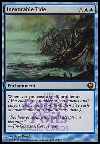 **1x FOIL Inexorable Tide** SOM MTG Scars of Mirrodin Rare MINT blue