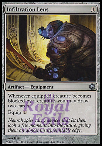 **1x FOIL Infiltration Lens** SOM MTG Scars of Mirrodin Uncommon MINT artifact