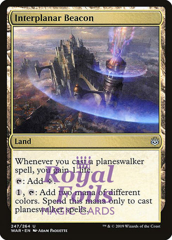 **1x FOIL Interplanar Beacon** WAR MTG War of the Spark Uncommon MINT land