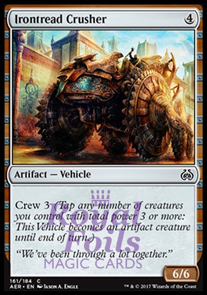 **4x FOIL Irontread Crusher** AER MTG Aether Revolt Common MINT artifact