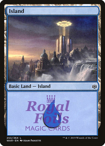 **2x FOIL Island #253 ** WAR MTG War of the Spark Basic Land MINT blue