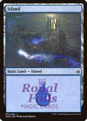 **2x FOIL Island #254 ** WAR MTG War of the Spark Basic Land MINT blue