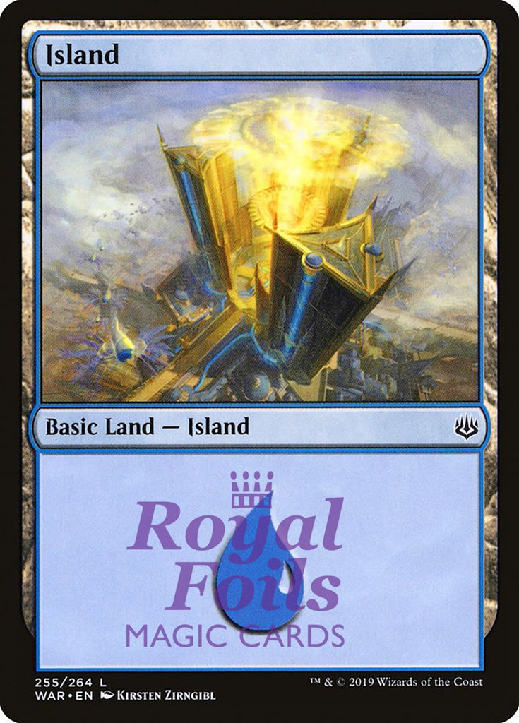**2x FOIL Island #255 ** WAR MTG War of the Spark Basic Land MINT blue