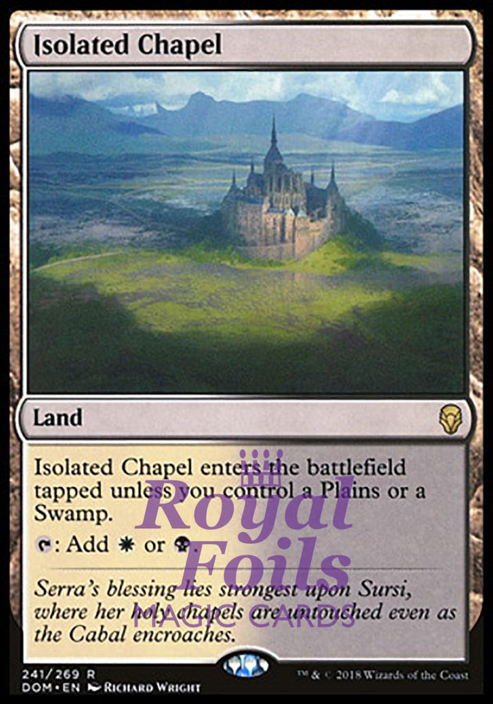 **1x FOIL Isolated Chapel** DOM MTG Dominaria Rare MINT  white black land
