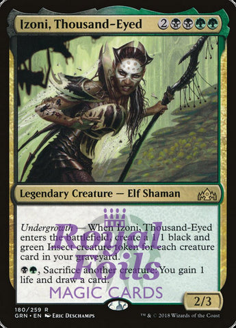 **1x FOIL Izoni, Thousand-Eyed** GRN MTG Guilds of Ravnica Rare MINT black green