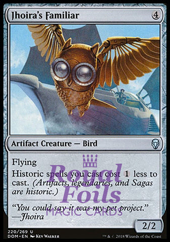 **1x FOIL Jhoira's Familiar** DOM MTG Dominaria Uncommon MINT artifact