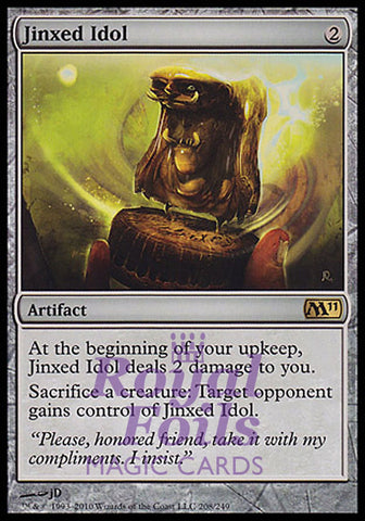 **1x FOIL Jinxed Idol** MTG M11 Core Set Rare MINT artifact